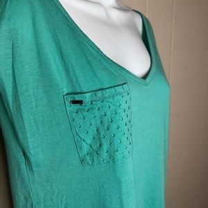 Volcom Mint Green Tee with Cutouts